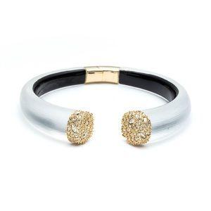 Alexis Bittar Crystal Pavé Hinge Cuff Bracelet